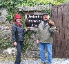 Thomas & Emily Gadacz about to set off and fly Swift & Stoker on their recent Hawk Walk.