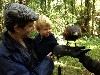 Jane Pratt\'s Grandson, Isaiah, coming face to face with a hawk for the first time.