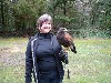 Debbie Williamson during her recent Hawk Walk with us.