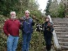 Cliff Williamson with his brother Johnny and sister-in-law Debbie at the end of their Hawk Walk.