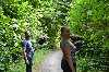 Ashly Joven sent this great photo of their recent Hawk Walk with us, flying Joyce & Stoker.