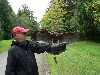 Alan Blaugrund flying one of the babies on his recent Hawk Walk.