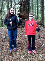 Amanda & Billy Hyatt flying Aztec & Chico on their recent Hawk Walk.