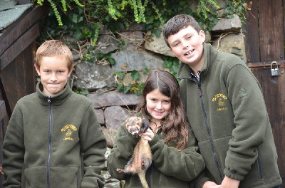 Mairi & Seamus Shea with Jacob and one of the ferrets. There is nothing to beat the lingering odour of ferret that stays with you for days after!!!