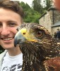 Dayle Hayes sent this great close up of James with Andes  during their recent Hawk Walk with us.