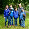 Here is the Curtin family, just returning from flying Wilde & Samhradh during their recent Hawk Walk with us.