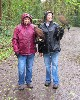 Ruth Rawlings & Pat Powers seem to be enjoying their Hawk Walk, flying Inca & Samhradh, despite the rain!