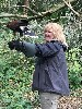 Thank you to Jim & Suzanne Galley for these great photos from their recent Hawk Walk here. Jim & Suzanne flew wonderful Lima & Fomhar with us. Here is Suzanne flying Fomhar in the woods.