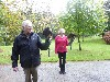 Stuart & Frances Lange flying Joyce & Stoker on their Hawk Walk.