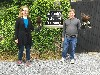 Jessica & Seth Schmidt just setting off to fly Rua & Burren on their recent Hawk Walk with us.