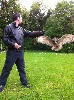 Justin Mahaffa flying Dingle on his second Hawk Walk with us recently.
