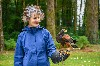 I love this photo that Noel Hilis sent of Maeve Thornberry flying Hansel with us recently. We were delighted to welcome Maeve back after 10 years from her first Hawk Walk here.