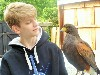 Lynette Loesel sent this great photo of her son, Keegan, getting to know Swift.