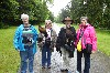 Ellen Farrar & Kakkie Cunningham with Alice & Shirley all flying Swift & Stoker on their recent Hawk Walk with us.