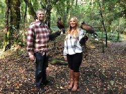 Here is Matt & Sarah Rendina flying wonderful Wilde & Stoker during their recent Hawk Walk here.