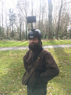 You can tell from his joyous expression that Conal really enjoyed being part of a 360 degree film shoot with the hawks recently!